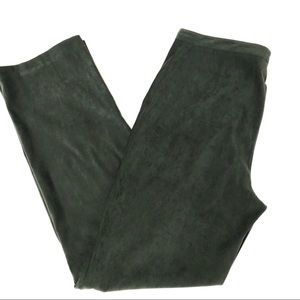 Style & Co. Olive Faux Suede Pants 10